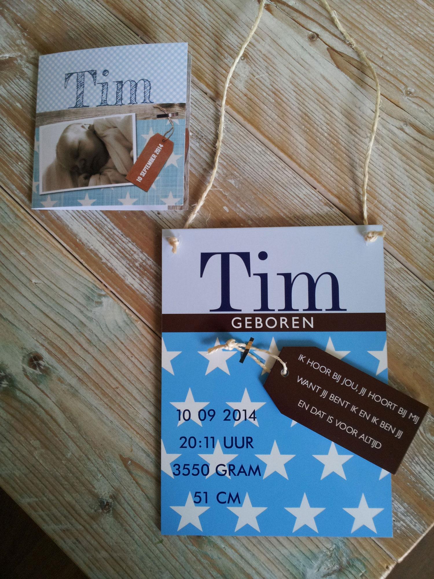 Tim-geboortebordje